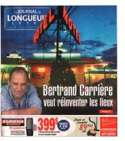 Longueuil Extra, couverture vol 18, n° 22 (15 août 2007) {JPEG}
